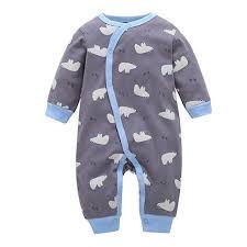 Amazon Com Infant Baby Boy Girls Jumpsuit Outfit Long