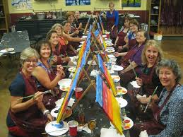 one of the biggest trends right now are group painting parties and it is a