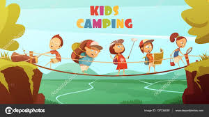 Image result for images of kids camping