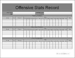 Sample Football Score Sheet Threeroses Us