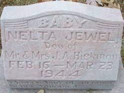 Nelta Jewel Hickman (1944-1944) - Find A Grave Memorial