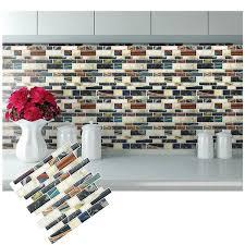l and stick backsplash removable self adhesive mosaic art tile wall sticker vinyl bathroom kitchen home