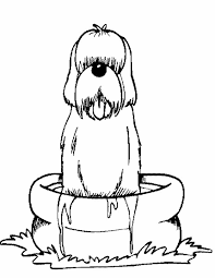 Kleurennu Hond Wordt Gewassen Kleurplaten