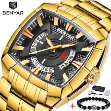 2019 <b>BENYAR</b> Brand Original Unique <b>Design</b> Men Wristwatch <b>Wide</b> ...