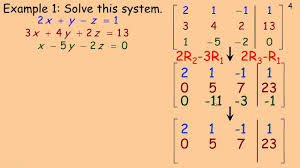 solving linear systems using matrices