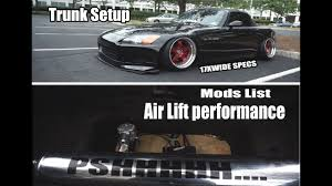 S2000 Air suspension trunk setup / S2000 car overview - YouTube