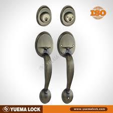 71219 ab dh double cylinder grip handleset door handle set