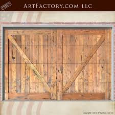 cross buck garage doors solid wood iron hardware gd768