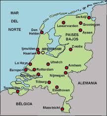 Mapa com todos os países do continente europeu. Pin De Florencia En Rree Holanda Mapa De Europa Paises Bajos