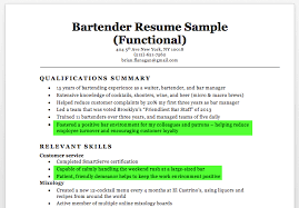 Bartender Resume Skills Template Beauteous Bartender Resume Sample Vintage Bartender Resume Examples Free