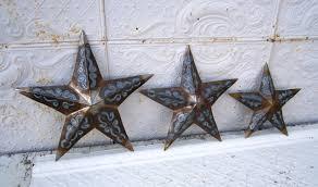 rustic metal plasma stars decorative wall decor