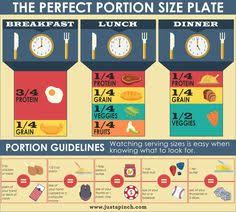 Meal Portion Chart Portion Size Charts
