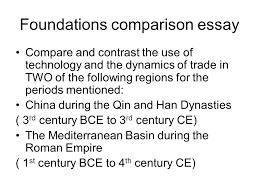 world history essayap world history writing the comparative essay  foundations     foundations comparison essay compare