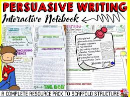 Anchor Chart Notebook Persuasive Opinion Writing Interactive Notebook