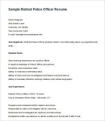 Resume Template Office Inspiration 48 Police Officer Resume Templates PDF DOC Free Premium Templates