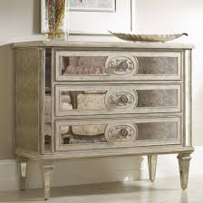 antique mirrored furniture. Hooker Furniture Living Room Accents 3-Drawer Antique Mirrored Chest - Item Number: 5125 U