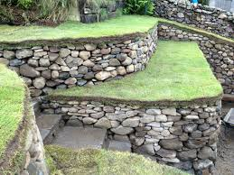 Small Picture Dry stone retaining walls steps and bench At Carlops Scotland