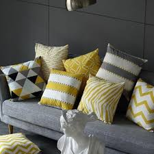 Yellow Decorative Pillows Couch