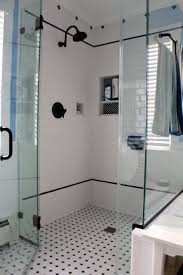 Black And White Shower Tile Designs Bathroom Exciting Bathroom Decorating Design Ideas With