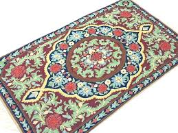 orange and green area rugs orange and green rug handcrafted fl rug crewel stitch wool decorative