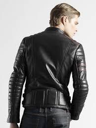 original gucci leather biker jackets for men black