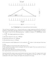 30 Foot Truss Design The Roof Trusses Are Placed 3 Ft O C Assume That