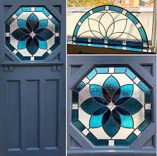 hardwood front doors stained glass panels