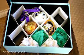 diy ornament storage