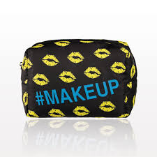 the makeup bag was inspired by the modern world of cosmetics and the beauty influencers behind it the unique design truly stands out with its pops of
