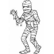 Small Picture Mummy Coloring Sheet