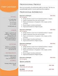 Free Resume Templates Simple Template Easy For 85 Surprising
