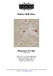 Downloadable Cross Stitch Chart Monogram Z Angel And Hearts