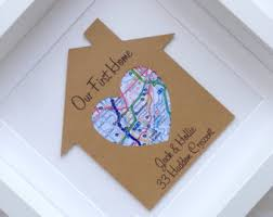 housewarming gift new home gift first home gift new house gift map
