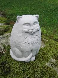 cat garden statue. Large Concrete Garden Cat Statue - H
