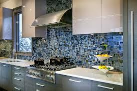 blue glass tile backsplash style