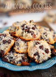 these easy almond joy cookies take just four ings and don t even require a