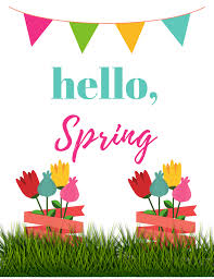 Hello Spring, two FREE printables - Keeping Up With Kaci