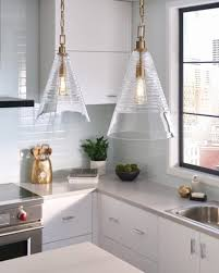 clear glass pendant lights for kitchen island beautiful elmore cone pendant