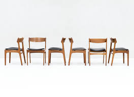 dining room chairs leather beautiful set of 6 model 49 dining chairs in teak by erik