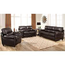 Top Grain Leather Living Room Set Tuscany 3 Piece Top Grain Leather Living Room Set