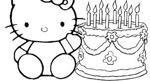 60 hello kitty pictures to print and color. Hello Kitty Wishes You Happy Birthday Coloring Pages