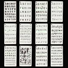 Handwritting Practice Us 4 23 20 Off 12pcs Handwriting Practice Notebook Craft Stamping Template Stencil Set Scrapbooking English Alphabet Handwriting Specification In