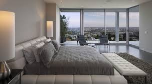 Luxury Bedroom Interior Luxury Bedroom Interior With Big White Tufted Platform Bed And