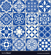 Pattern In Spanish Classy Spanish or portuguese tile pattern lisbon Vector Image