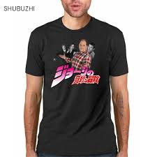Cotton T Shirt Design Us 7 0 22 Off Cotton Tshirt Jojo Bizarre Adventure All Star T Shirt Design Manga Tshirt Cool Funny T Shirt Printed Fashion Tee Sbz609 In T Shirts