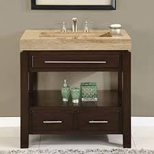 Dark bathroom vanity Dark Wood Amazoncom Silkroad Exclusive Hyp0218t36 Dark Walnut Stone Top Single Sink Bathroom Vanity With Cabinet 36 Amazoncom Amazoncom Silkroad Exclusive Hyp0218t36 Dark Walnut Stone Top