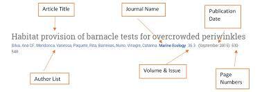 Understanding A Journal Citation Bio 103 Biology I Lab