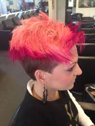Hairstyles Double Colour Pink Short Hair Cut Cuts For Hairstyles