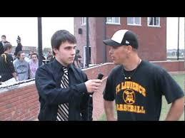 St. Laurence HS - Varsity Baseball Spring 2010 - Andy Volk interviews Coach Adam  Lotus - YouTube