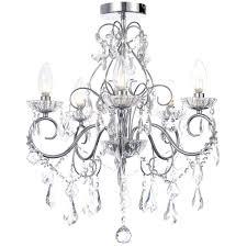 vara 5 light bathroom chandelier chrome free delivery